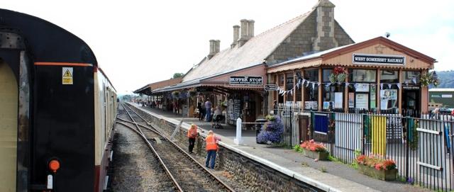 2 West Somerset Railway, Minehead Station, Ruth walking the coast