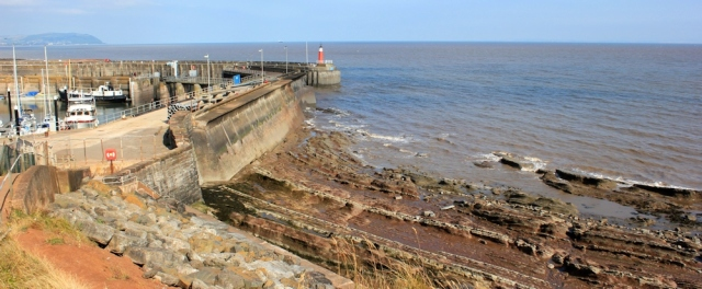 Watchet piers, Ruth's coastal walking, North Somerset