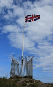 flag, Ruth's coast walk on Capstone Point, Ilfracombe