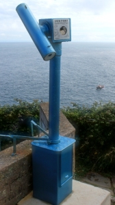 Telescope, Capstone Point, Ruth on SWCP, Ilfracombe