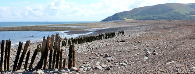 Hurlstone Point, Ruth on her coastal walk, Porlock