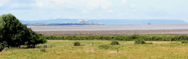 looking back to Hinkley Point, from Stert Point bird hide, Ruth's coastal walk
