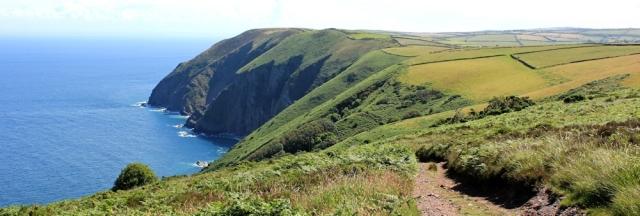 Ruth on the South West Coast Path, Trentishoe, Devon