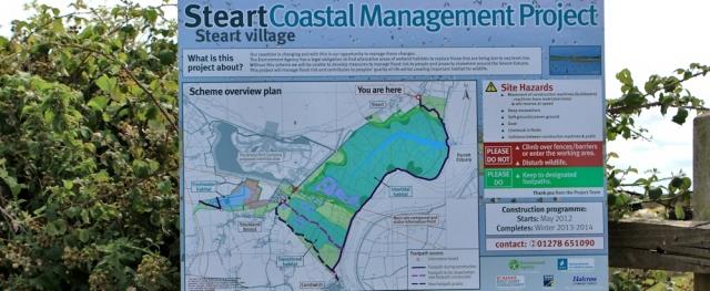 Steart coastal management project, Ruth's walk along the Parrett Trail
