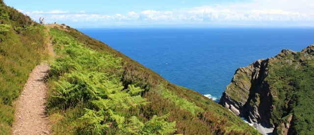 Heddon's Mouth, Ruth walking the South West Coast Path, North Devon