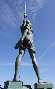 Pregnant statue from behind, Ruth Livingstone, Ilfracombe