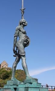 09 Pregnant statue, from other side, Ruth in Ilfracombe