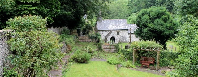 Church at Culbone, Ruth on South West Coast Path, near Porlock Weir