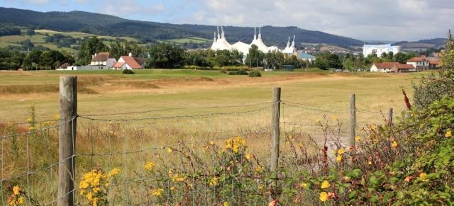 look back at Minehead, Ruth's coast walking