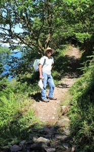 hubby on South West Coast Path, near Martinhoe, Ruth's coast walk