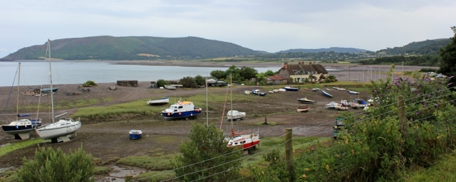 Porlock Weir, Ruth walking the South West Coast Path, Somerset