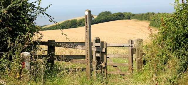 permissive footpath to coast, Ruth in north Somerset