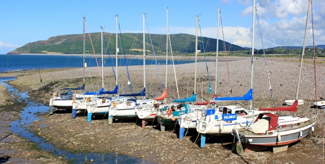 ships at Porlock Weir, Ruth's coast walk around the UK