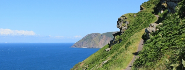Walking towards Lynton, coastal path, Ruth