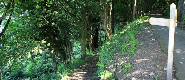 Path down to Lynmouth, Ruth on the South West Coast Path