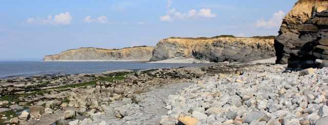 Shore at Kilve Pill, Ruth Livingstone's coastal walk, Somerset