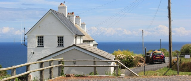 Coastguard Cottage, A399, Ruth walking from Ilfracombe to Combe Martin
