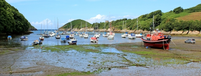 Watermouth harbour, Ruth walking the SWCP, north Devon