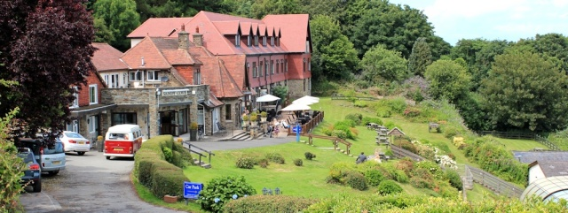 Sandy Cove Hotel, Ruth walking the South West Coast Path, Combe Martin