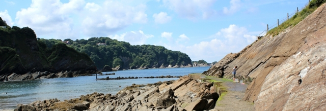 steps to nowhere, Combe Martin, Ruth's coastal walk