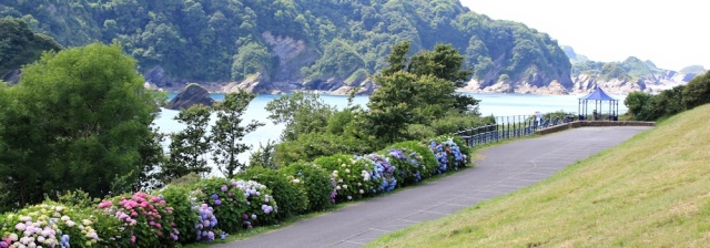 Combe Martin, Ruth walking the South West Coast Path