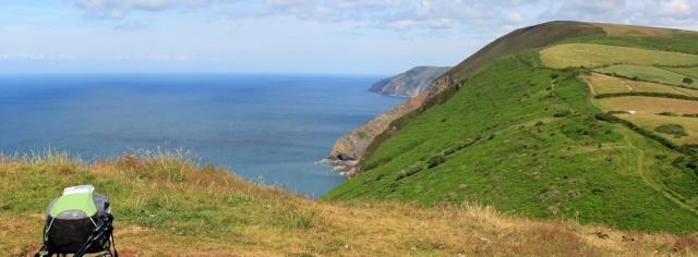 from Little Hangman to Great Hangman, Ruth's coastal walk, north Devon coast