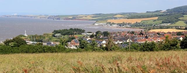 Watchet, Ruth on Somerset Coast Path