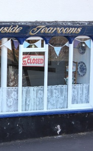 tearooms closed, Ruth in Minehead