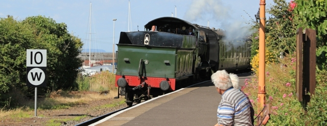 steam train, Watchet station, Ruth Livingstone