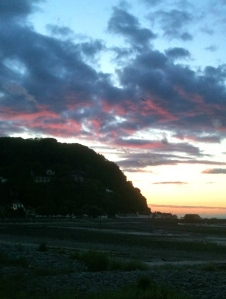 Sunset over Minehead, Ruth Livingstone
