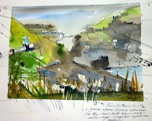 Tintagel - Painting by Tim Baynes