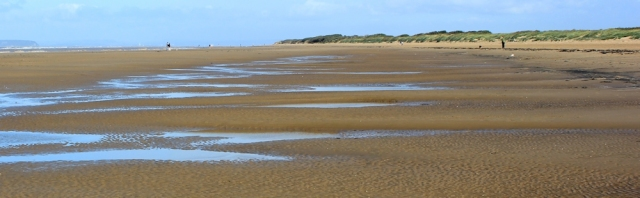 empty sands, walking the coast towards Brean, Burnham on Sea