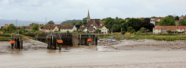 Combwich wharf, on River Parrett, Ruth's coastal walk in Somerset