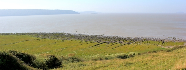 looking down over Sand Bay, Ruth's coastal walk, North Somerset