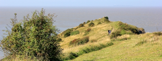 walking from Middle Hope to Sand Point, Ruth's walk along Somerset coast
