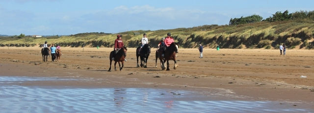 horse riders, Brean, Ruth's coast walking, North Somerset