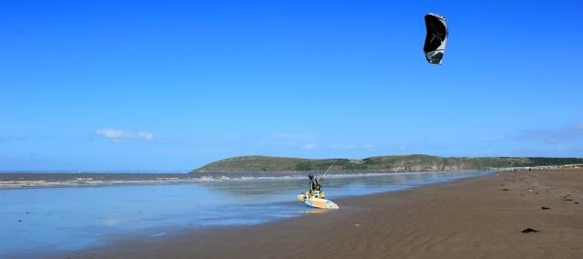 kitesurfer, Ruth's coastal walk, Brean, Somerset