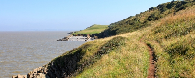 wonderful walk, north coast, Middle Hope, Ruth's coast walking in Somerset
