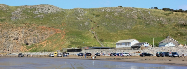 Brean Down, and steps going up, Ruth Livingstone's coast walking
