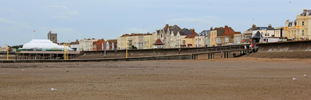 Burnham on Sea, Ruth on her coastal walk, north Somerset