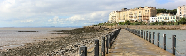 crossing Marine Bay, Weston super Mare, Ruth's coastal walking