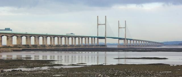 Second Severn Bridge, Ruth walking the coast