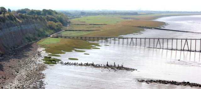 up the estuary, English side of Severn Bridge, Ruth's walk