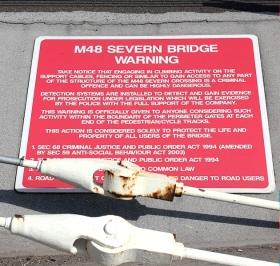 Severn Bridge warning sign, Ruth Livingstone