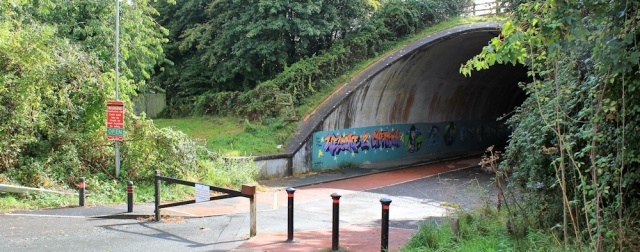 back to the underpass, M48, Ruth walking in Chepstow