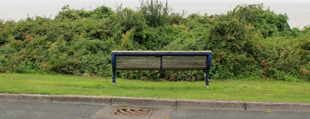 18 a seat with no view, Portishead, Ruth's coastal walk around the UK