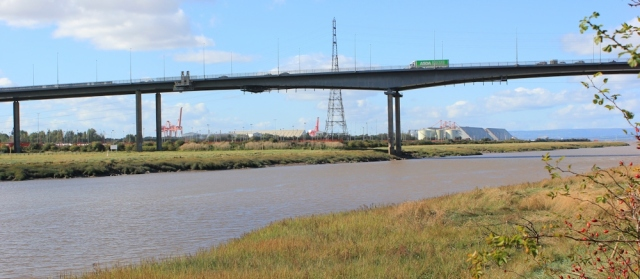 M5 Bridge over the Avon, Portbury Dock behind, Ruth Livingstone
