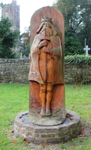St Tewdric's, statue, near Chepstow, Ruth Livingstone