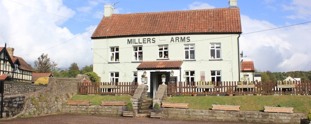 Miller's Arm's, Mathern, Ruth walking the Wales Coast Path