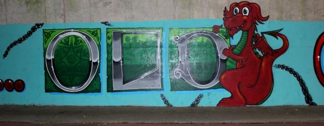 b02 graffiti, coast path, Chepstow, Ruth Livingstone